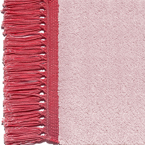 Antique pink, fringes luminous red