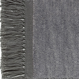 Graphite grey, fringes slate grey