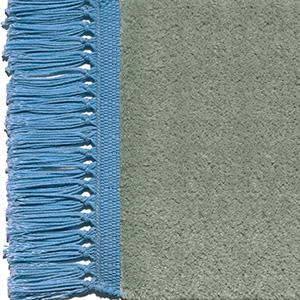 Pale mint, fringes turquoise blue
