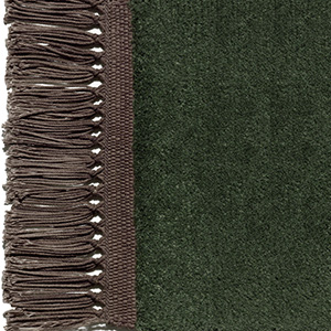 Hunting green, fringes espresso brown
