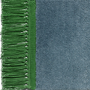 Meeresblau, Fransen smaragdgrün