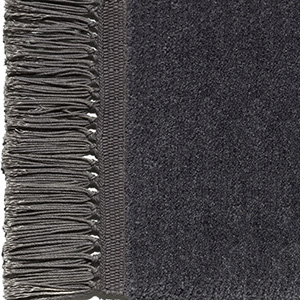 Black grey, fringes slate grey