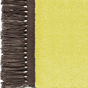 Zinc yellow, fringes fawn brown