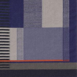 Blau / Fransen: Baumwolle natur