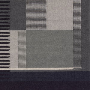 Grau / Fransen: Baumwolle natur