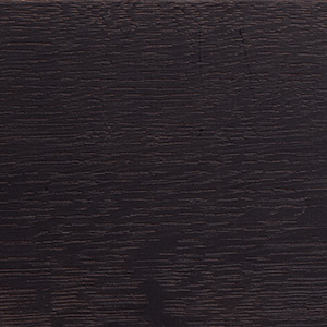 European oak, jet black stained, lacquered