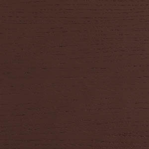 Oak veneer, chocolate brown lacquered
