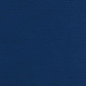 Oak veneer, lapis blue lacquered