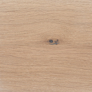 European oak, white pigmented waxed