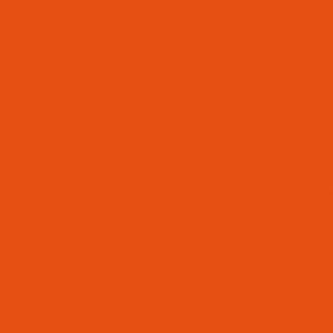 Steel, powder-coated, pure orange