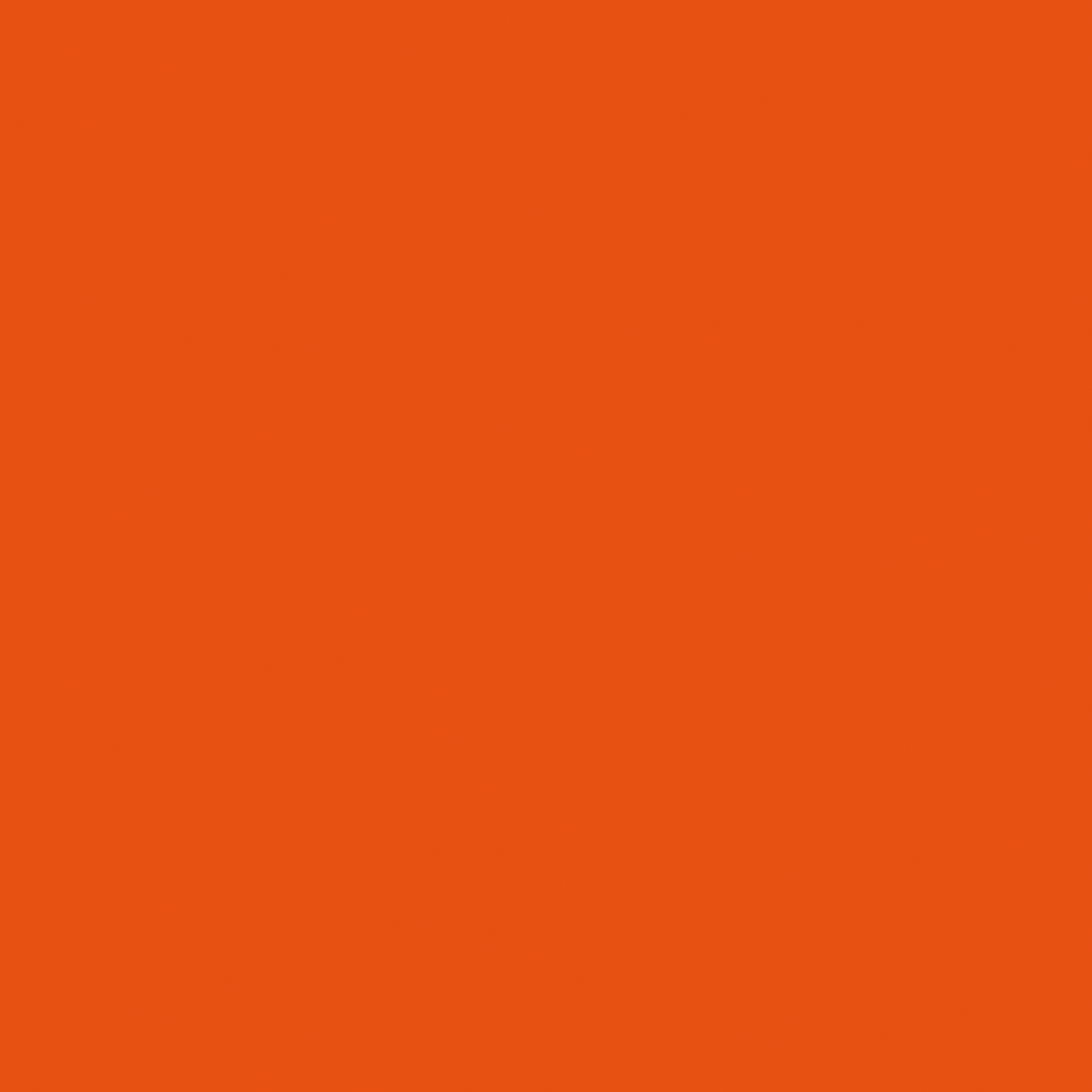 Steel, pwoder-coated, pure orange